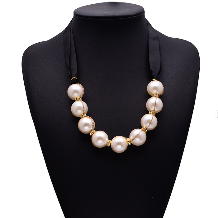 Fashion Luury Pearl Women Silk Summer Spring Collar Choker Women Jewelry 1099