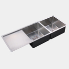 Double Bowl Stainless Steel Sink Drain Rack Kitchen Shelf Stainless Steel Kitchen Sink Rack Dish Organizer