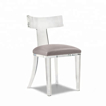 Marvelous Clear Acrylic Modern And Contemporary Dining Chair With Beige Fabric Cushion Lucite Banquet Chair View Acrylic Dining Chair Oem Product Details From Caraccident5 Cool Chair Designs And Ideas Caraccident5Info