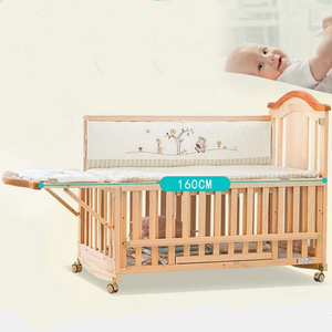 The newest type natural wooden extensiable baby crib/baby sleigh bed/manufacturer cots