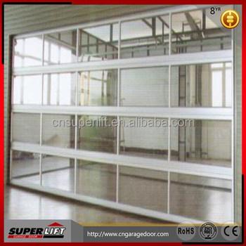 Aluminum Glass Garage Door Automatic Glass Insert Aluminum Garage