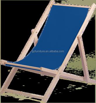 Foldable Wooden Beach Deck Chair