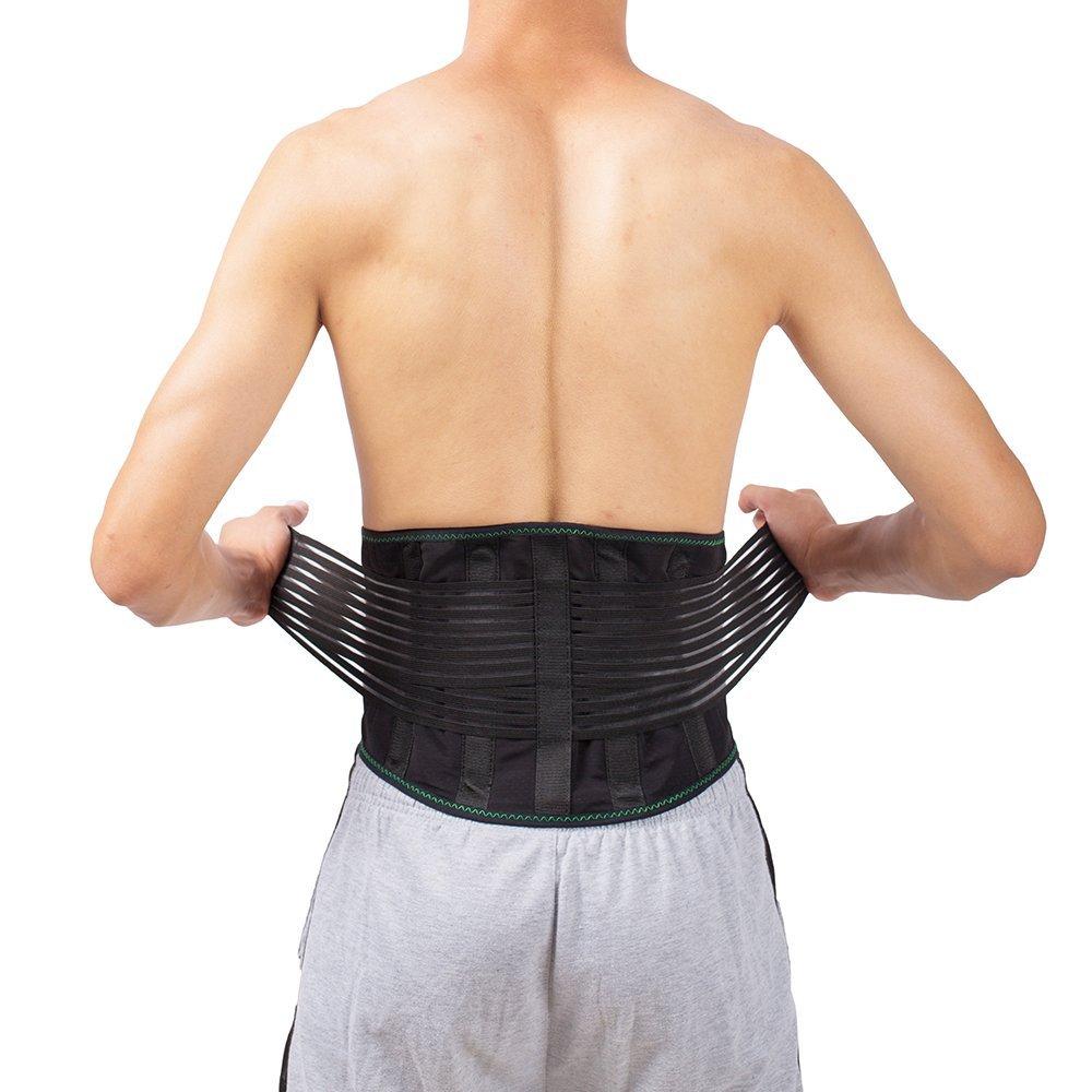b32c5d6db5df3 Get Quotations · Lumbar Back Spinal Spine Waist Brace Support Belt Corset  Stabilizer Cincher Tummy Trimmer Trainer Weight Loss