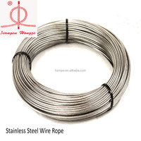 Good quality 2mm stainless steel 304 wire rope &cable1*7 at reasonable prices
