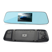 L505C Full HD 1080P 4.3inch dual lens car rear view mirror DVR 14MP touch screen rear view camera dash