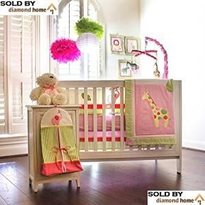 Get Quotations 10 Piece Safari Zoo Jungle Baby Bedding Crib Sets Pink S Animals Giraffe Elephant Lion