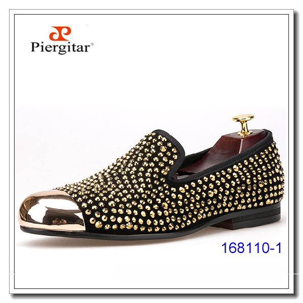 Shoes Golden Men Rivet Luxury Party SxvwzHqa4n