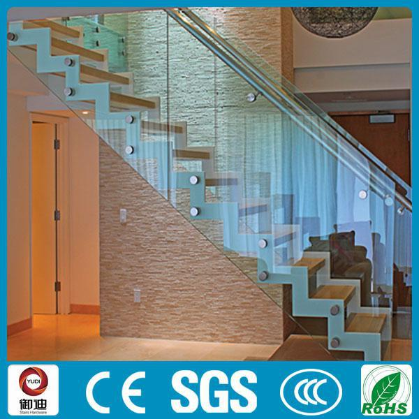 luxurious timber staircase with glass handrail