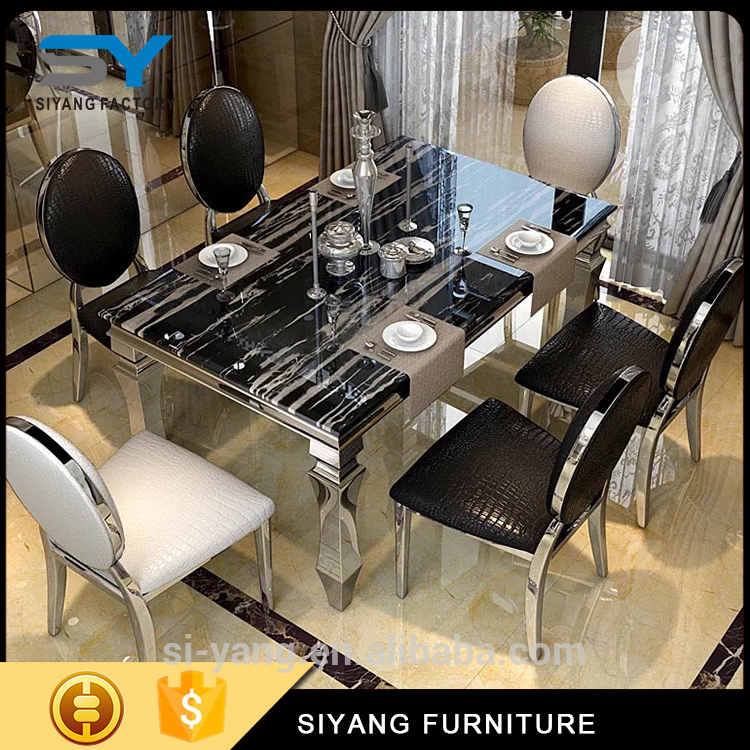 Luxury Custom Decorative chromed chairs and tables With RoHS certificate
