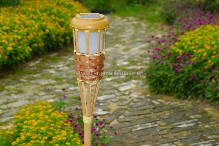 antorchas de iluminacin solar pack bamb parpadeo iluminacion exterior ajustable