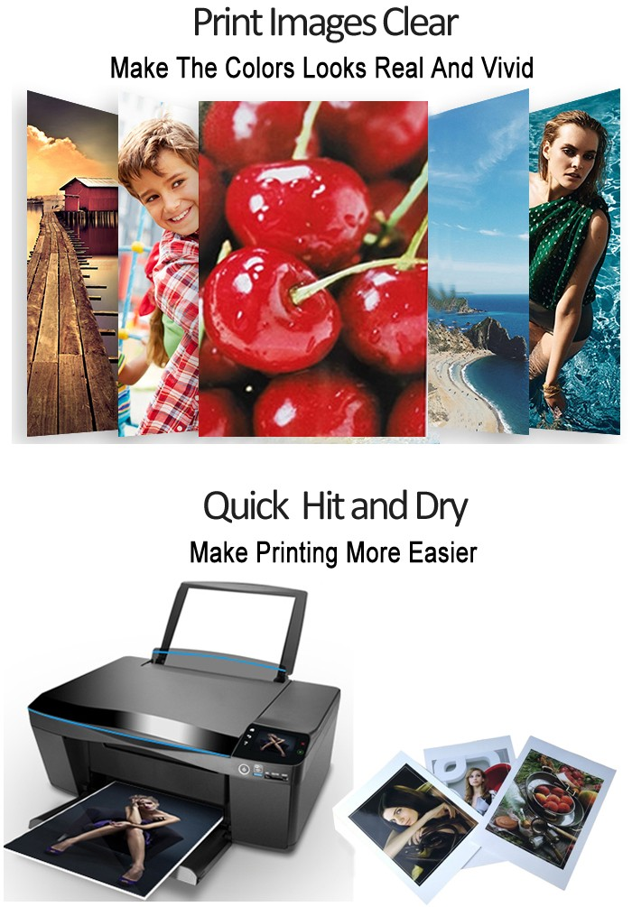 130gsm 180gsm Waterproof Inkjet Matte Coated Print Photo Paper