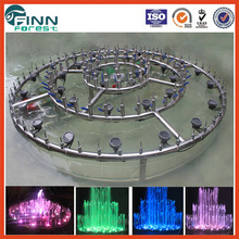 Outdoor diameter 2m stainless steel water dancing musical fountain wedding cake fountains for sale
