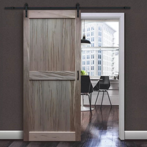 Modern solid wood sound insulation sliding barn door