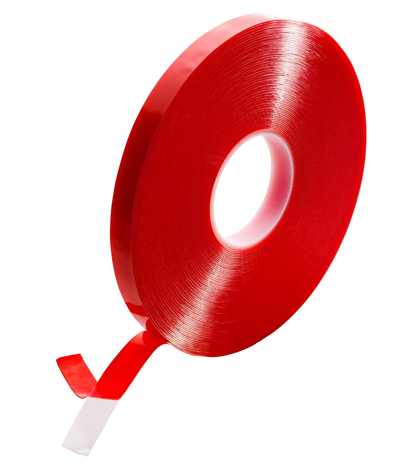 """T.R.U. FA-UHB10C Double Coated Acrylic Foam Tape Clear. 36 Yds Length. Available In Multiple Sizes. (1/2"""" (12.7mm))"""