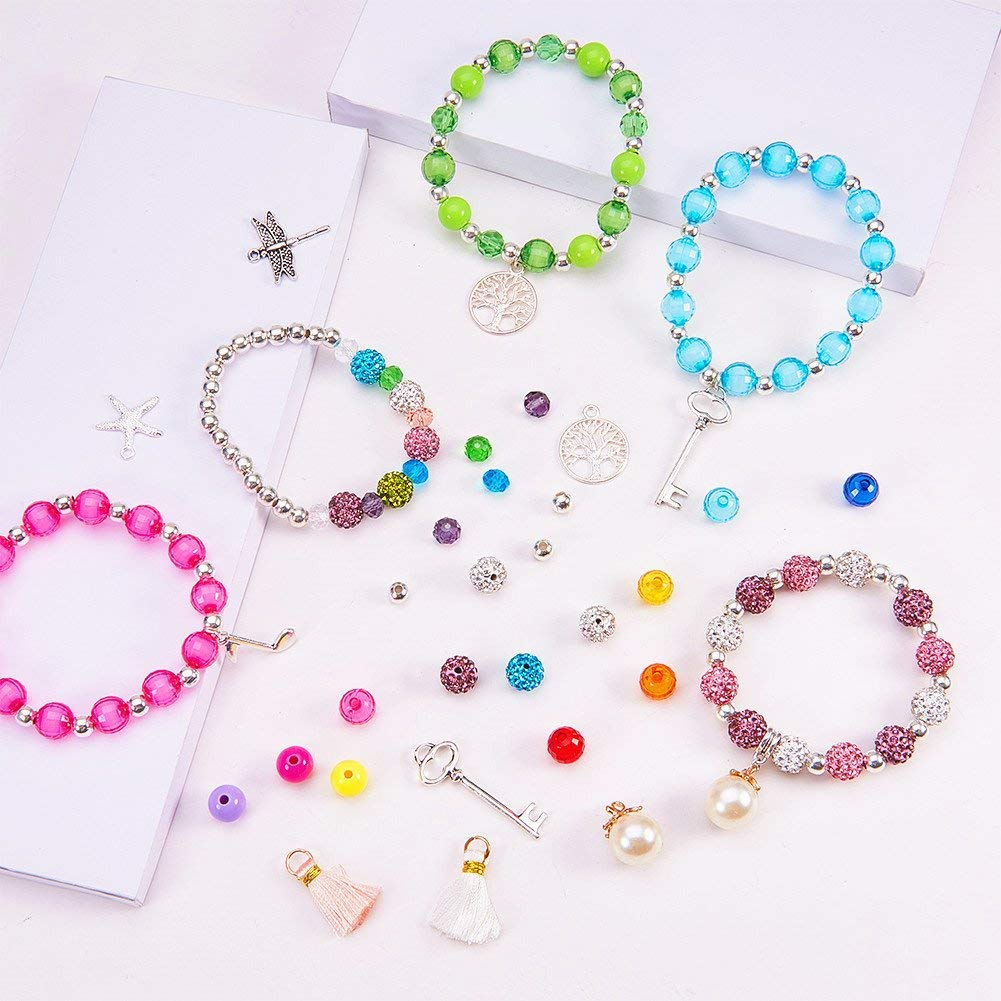 Jewellery 1pc Multicolor Glass Cube Bead Necklace Necklaces