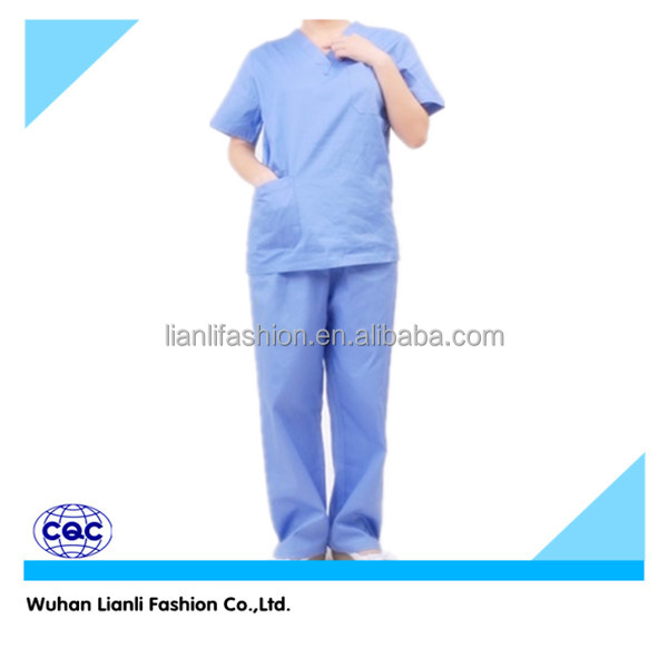 hospital uniform female male scrub suit surgical gown