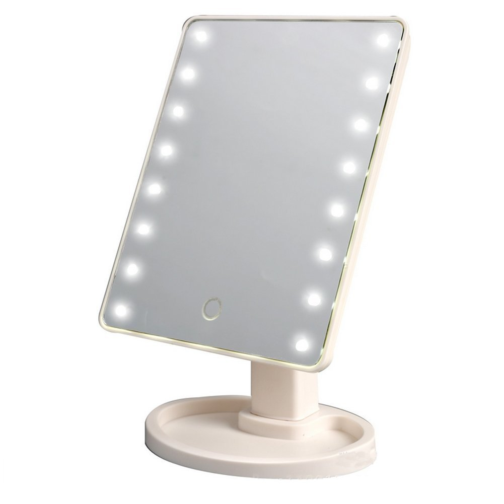 Cheap Jerdon Portable Led Lighted Tabletop Makeup Mirror Find