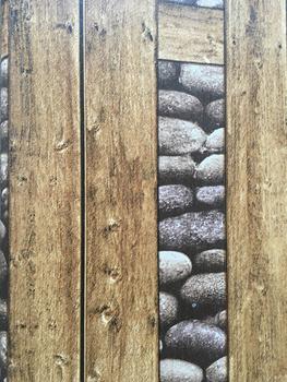 Carta Da Parati Moderna Texture.Moderno Vinile Decorativo In Legno E Pietra Texture Carta Da Parati