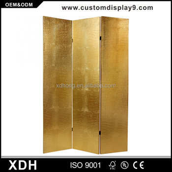 Best Sale Metal Gold Curved Room Divider Banquet Room Partitions