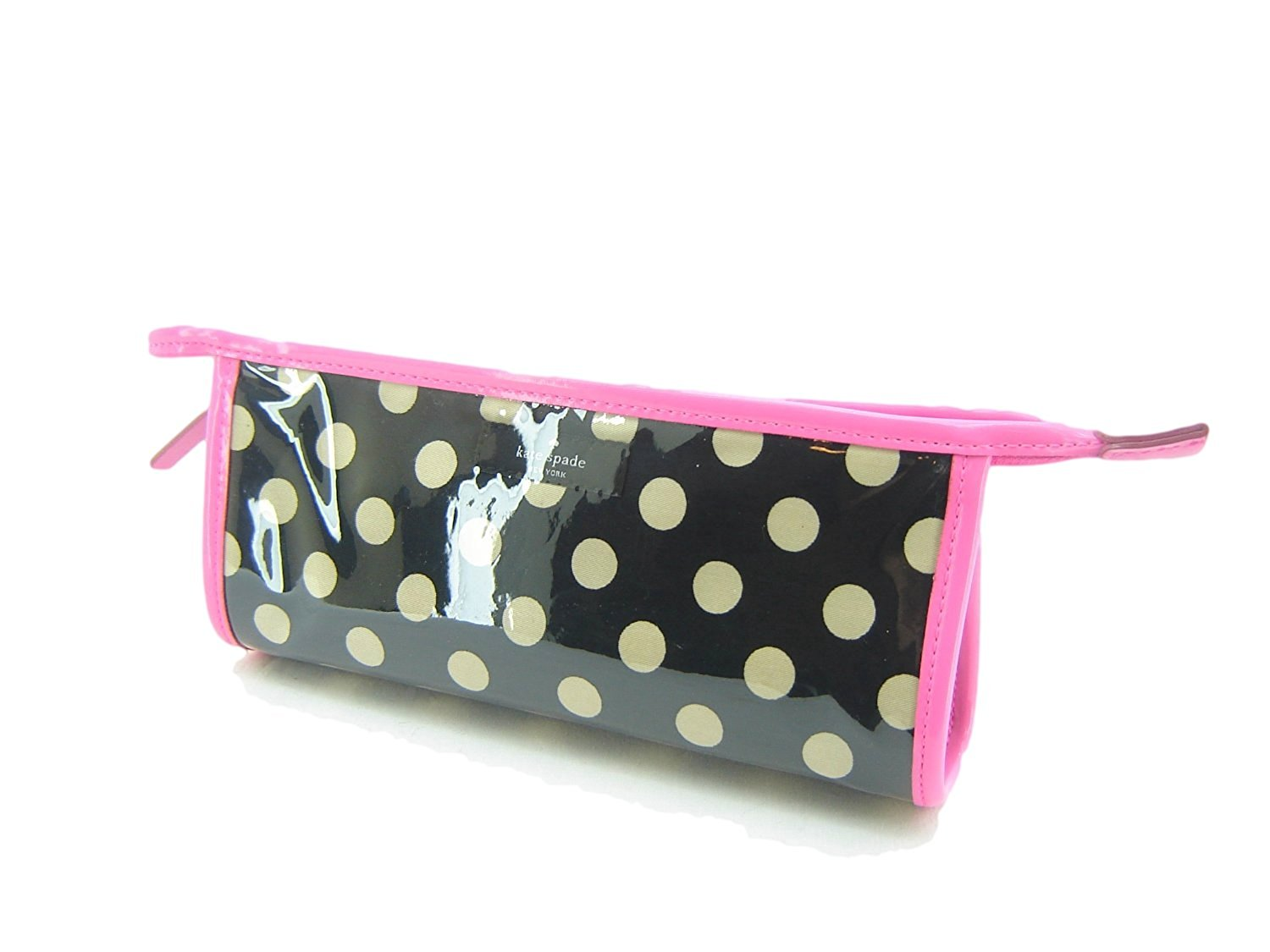 Kate Spade East West Heddy Rose Avenue Black Bdot Small Cosmetic Bag WLRU1261