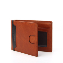 full grain Genuine leather wallet RFID blocking men card holder leather cork wallets