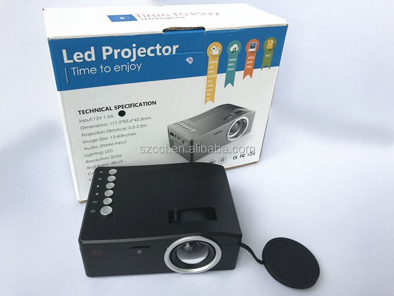 Christmas gift for home/office LED <strong>Projector</strong> 320*180 with remoter control 60 Lumen