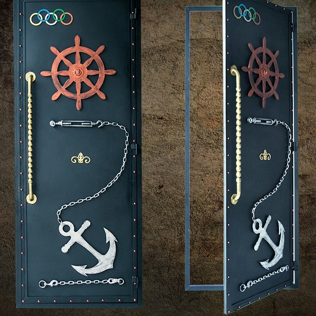 industrial loft style metal door customized size washroom door for restaurant theme cinema