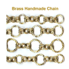 Brass handmade jewelry chains catalog 5 - many styles copper brass handmade chain for bracelet necklace jewelry DIY making