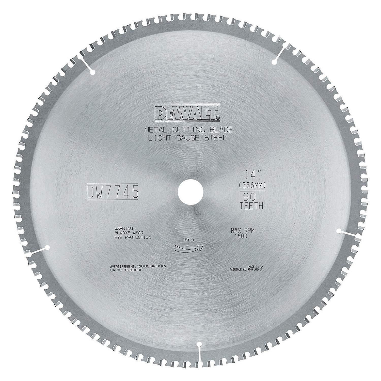 DEWALT DWA7745 90 Teeth Light Gauge Ferrous Metal Cutting 1-Inch Arbor, 14-Inch
