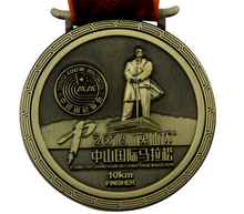 high grade bronze 10km marathon running finisher sports medal for souvenir