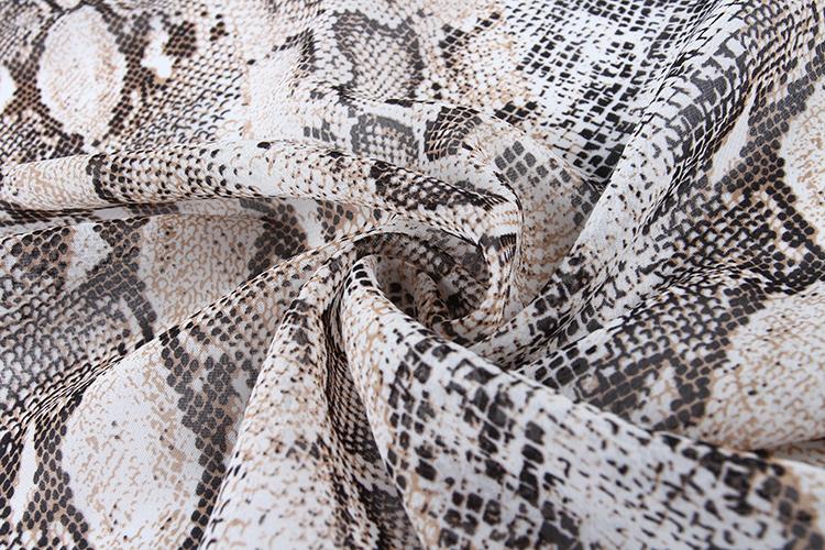 Anti-Static elegant lightweight chiffon print fabric for spring and summer