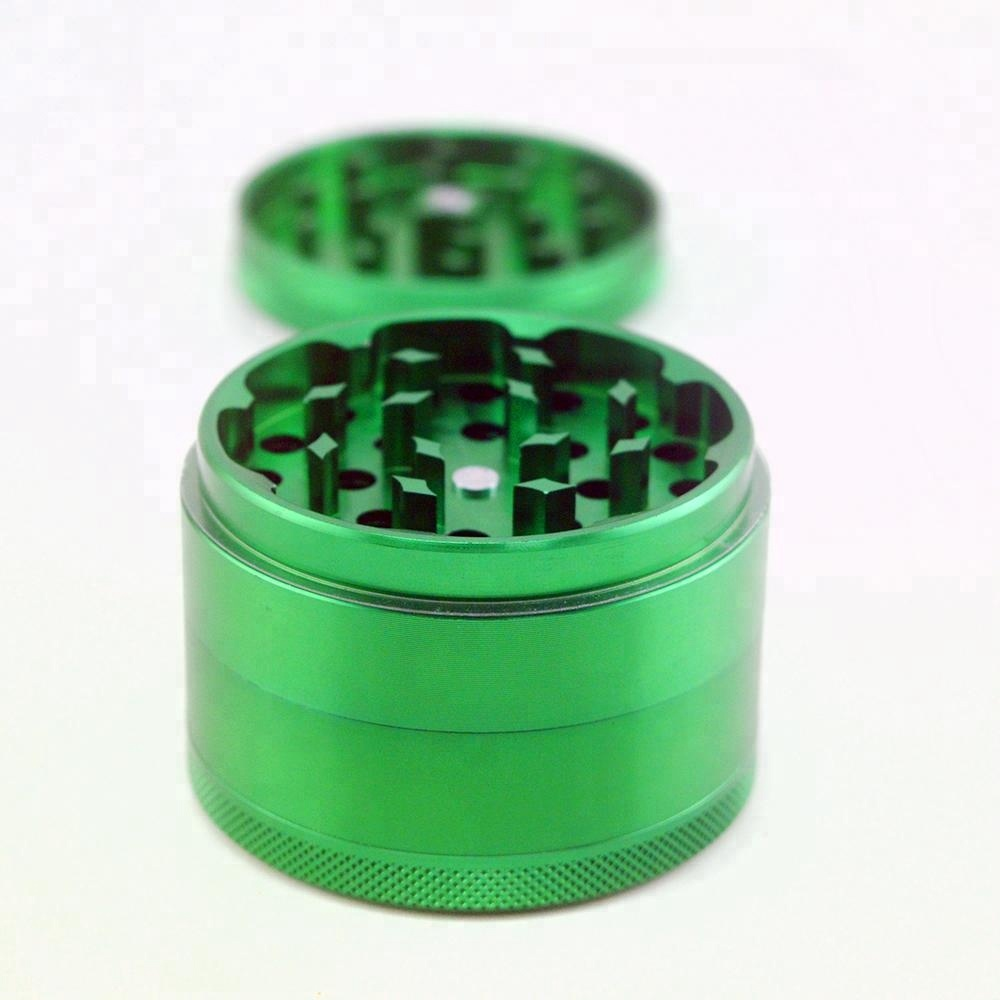 Hot Selling rolling paper smoking weed accessories, 2.5inch 4 layer metal aluminum herb grinder