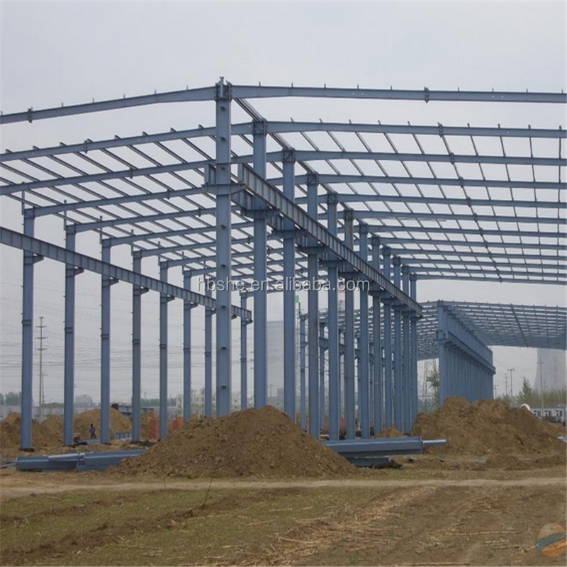 Prefabricated industrial steel structure building shed design with good price Made In China