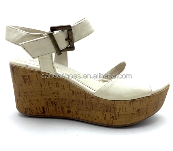 2016 New Arrival New Sandals Manufacturer Wholesale Women Wooden Wedge Dress Shoes
