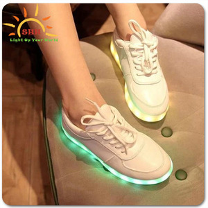 New Couple LED Light Up Luminous Shoes Sportswear flashing glow in the dark shoes with led lights for birthday promotion gifs