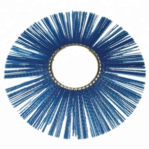 Manufacturer of ring road wafer brushes galvanized steel ring PP wires sweeping brush wafer cleaning brush