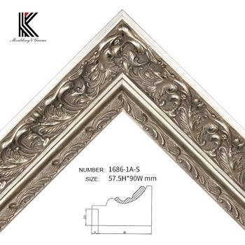 Gallery Silver Foil Carved Wood Art Frame Moulding For Deco Frame