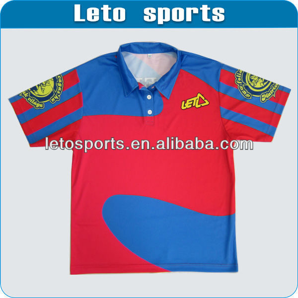Racing polo jersey with 100% polyester
