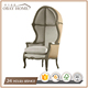 Beige Linen Living Room Furniture Lounge Ocassional bird cage egg Standing wood chairs