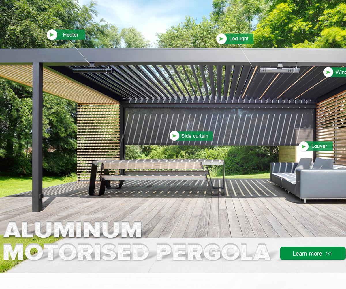 Ballede (Shanghai) Metal Products Co., Ltd.   Motorized Louvers Roof /  Pergola, Aluminum Louvers