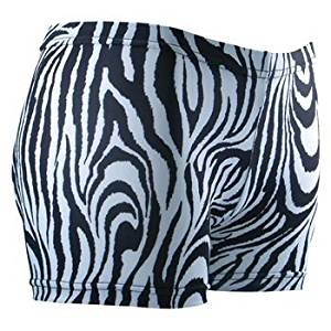 e6cc7baeca7d Get Quotations · Gem Sports Zebra Print Sublimated Volleyball Spandex Shorts  - SIZE: Small