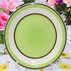 "10.5"" stoneware dinner plate,hand painted cake plates,heated dinner plates"
