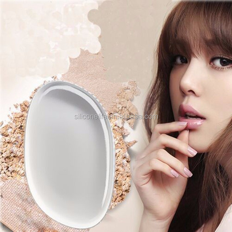 Silicone gel lady face Foundation makeup puff cosmetic Beauty tools not Sponge Powder blender for women BB CC box