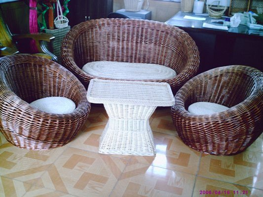 Nautical Willow Sofa Basket Chair
