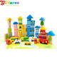 wooden city block for baby 100% non-toxic