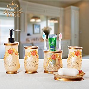 BBSLT Top grade resin Kit resin bathroom-bathroom set of five seven-piece bathroom set-bathroom creative gifts , 01