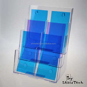 1/3 A4 6 Pockets handy plastic literature rack display racks for hotel