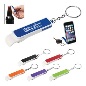 Wholesale favorable price high quality multifunction abs plastic bottle opener keyring funny cell phone holder