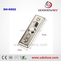 The cheapest stainless steel mini door release push button manufacture (DH-K802)
