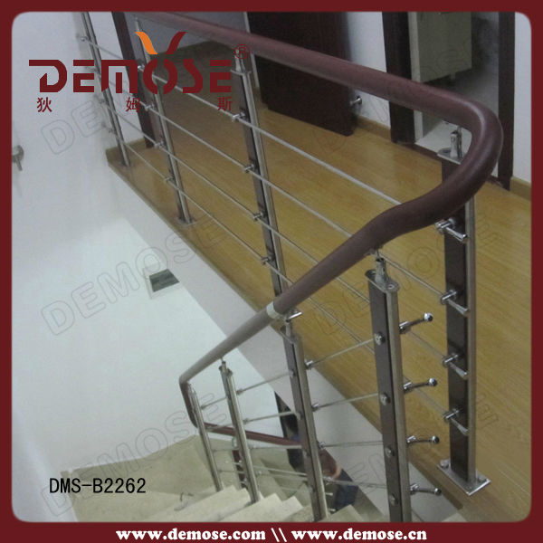Dise os de barandilla de madera para escaleras de metal al - Escaleras al aire ...